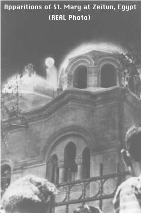 Coptic Christians Zeitun, Egypt. Photo recorded 4 years before Lloyd Cross invented the moving 3D hologram.