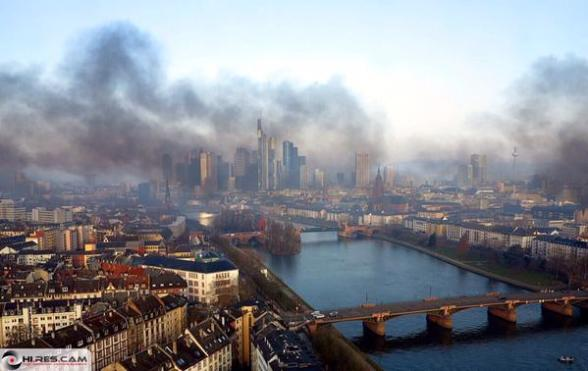 Frankfurt, Germany 2015 Citizens Of Germany March Against Rothschild's NWO Central Bank.