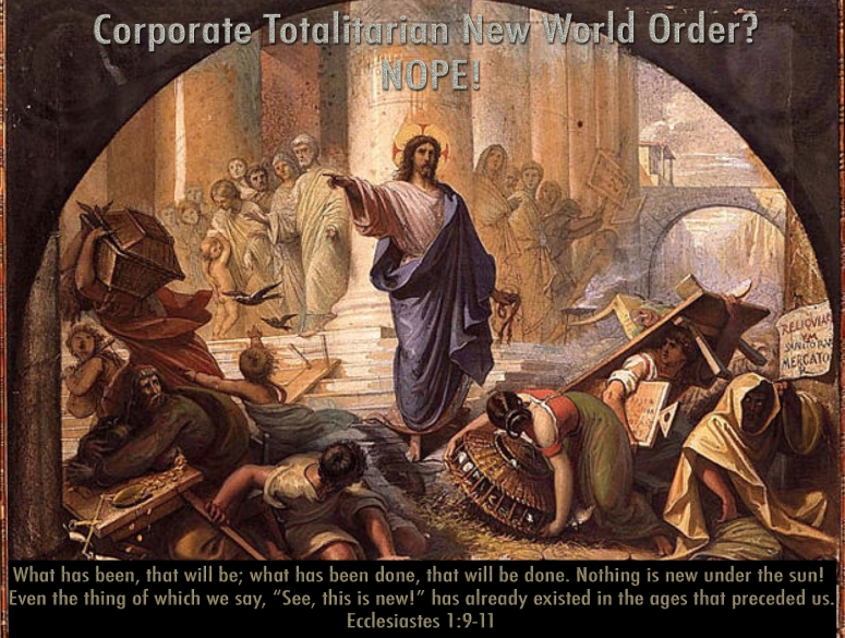 NWO  Jesus Temple money changers