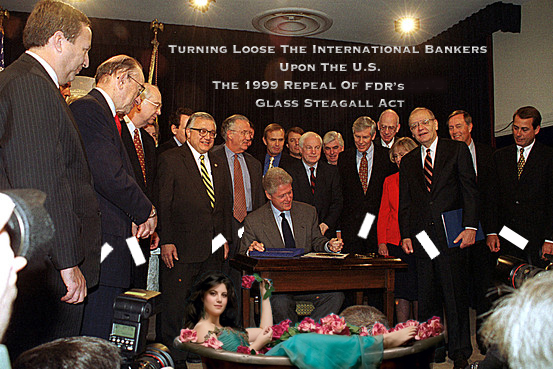 Clinton's 1999 Green Light For Banks To Make High Risk Investments Against The Middle Class!