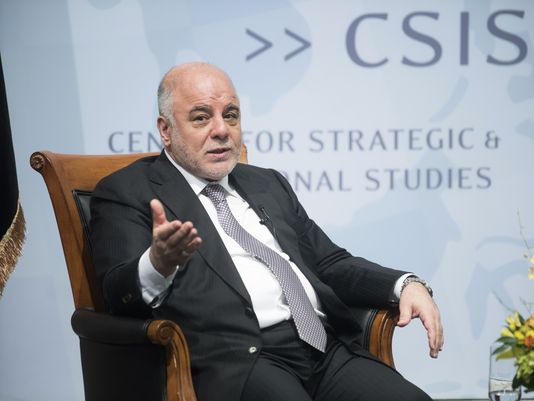 """If we don't decentralize, the country will disintegrate,"" Haider al-Abadi bluntly declared in a speech Wednesday to the Center for Strategic and International Studies. ""To me, there are no limitations to decentralization."