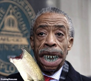 Al-Sharpton-With-Shark-Teeth-Eating-a-Fish--111064