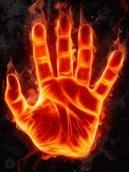gif fire hand