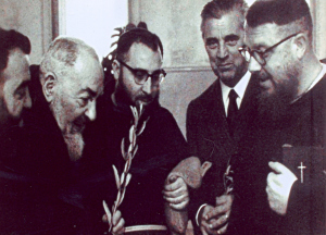 Enrico Medi Second From Right With Padre Pio Second From Left.