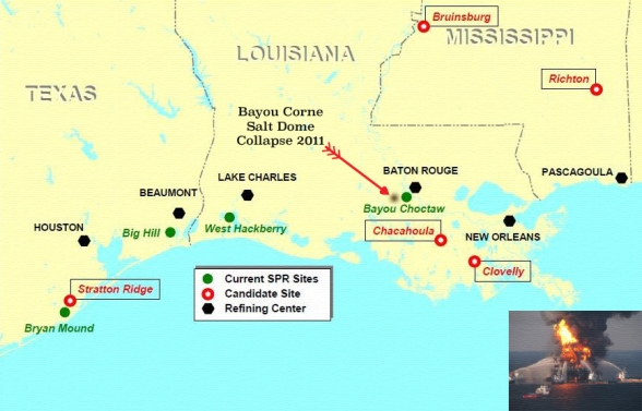 SPR Gulf Oil Salt Dome Collapse