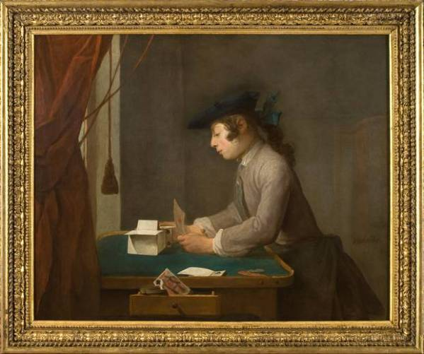 Jean-Baptiste Siméon Chardin, Boy building a House of Cards , 1735; Waddesdon, The Rothschild Collection (Rothschild Family Trusts).