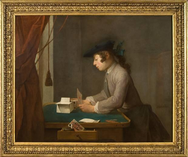 Jean-Baptiste Siméon Chardin, Boy building a House of Cards , 1735; Waddesdon, The Rothschild Collection (Rothschild Family Trusts).