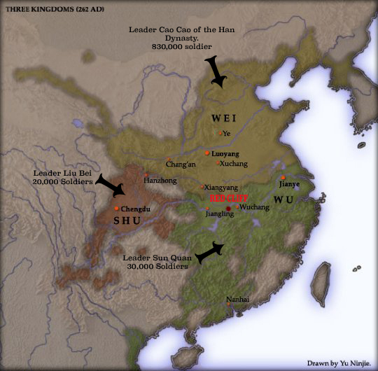 BATTLE OF RED CLIFF 208 AD