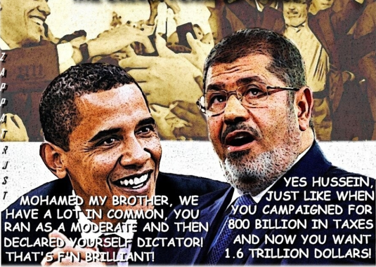 Obama removed Hosni Mubarak from Egypt By coup and installed Muslim Brotherhood Mohammed Morsi who was over thrown by the people in Egypt July 2013. He now Sits on death row after the Grand Mufti Of Islam upheld the sentence.