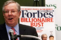 """Steve Forbes, Editor of Forbes magazine.newly formed Hong Kong-based investor group Integrated Whale Media Investments (""""IWM"""") is composed of international investors."""