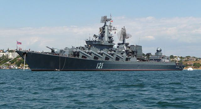Russia Guided Missile Cruiser 'Moscow'