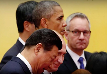 China Xi, Russia Putin, U.S. Obama