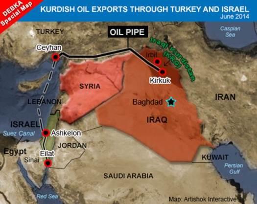 Erbil Turkey Ceyhan Israel iraq oil