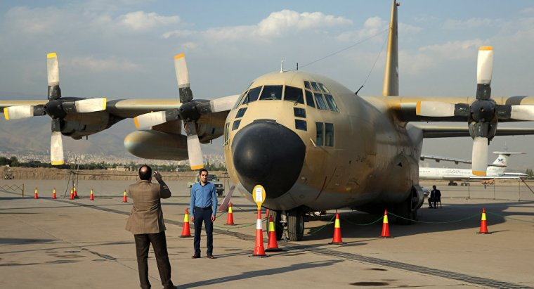 Iranian C-130 Hercules military transport aircraft