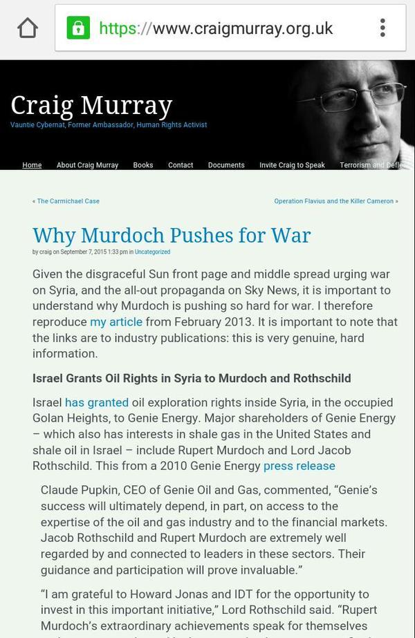 murdoch israel oil syria