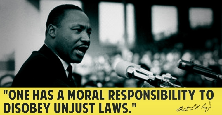 MLK unjust laws disobey