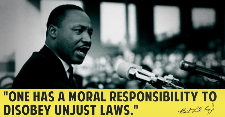 MLK unjust laws disobey