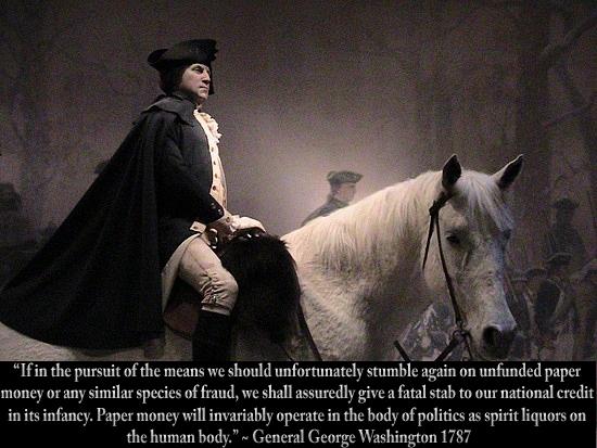 George Washington unfunded paper money