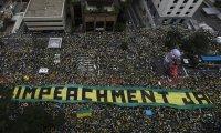 Demonstrators in São Paulo Brazil