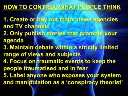 conspiracy brain wash