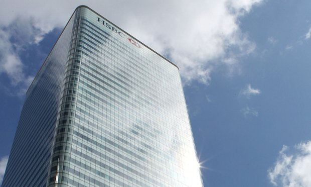 HSBC HQ Building At 8 Canada Square In Canary Wharf, London