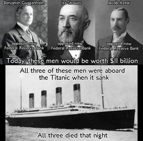 Titanic Rothschild 1913 Federal Reserve