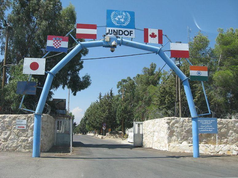 undof golan heights syria israel
