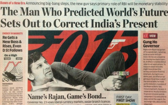 India – Crime of the Century: Narendra Modi & Rothschild's BIS Failed Financial Coup Raghuram-rajan-james-bond-nwo
