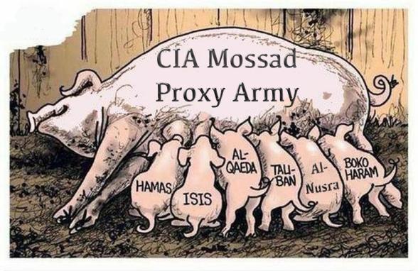 cia mossad isis proxy army
