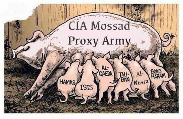 cia mossad proxy army
