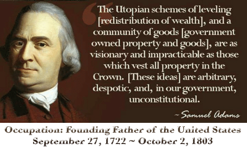 Samuel Adams redistribution wealth