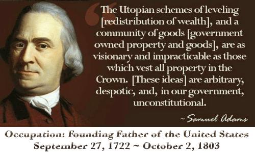 Samuel Adams redistribution wealth