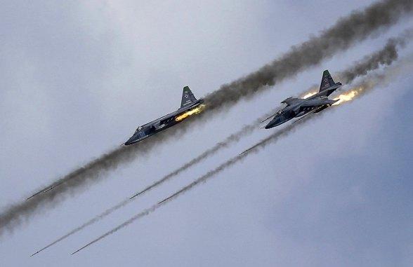 Russian Air Force Sukhoi SU-25 attack aircraft